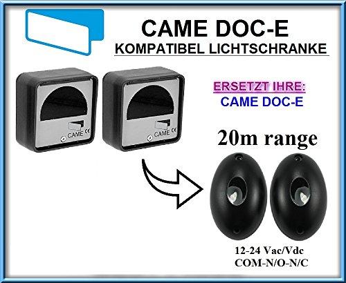 Preisvergleich Produktbild Came DOC-E kompatibel lichtschranke,  paare von äußere universale Fotozellen / Infrarot IR Sicherheit Sensor 12 -24 Vac / Vdc,  NO / NC. Reichweite: bis 20m!!!