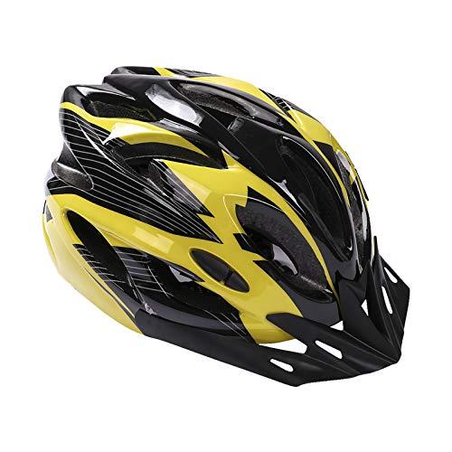 Casco da bicicletta, mountain bike, da adulto, regolabile, con visiera rimovibile, per mountain bike, City Specialized, senza fuoristrada, per uomini e donne (giallo)