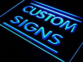 ADVPRO Logo or Picture Design Custom Signs/Neon Signs/LED Signs/Night Light/Bar Signs/Edge Lit Signs/Your Own Design (16x12 inches, Blue)