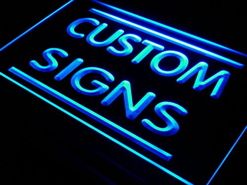 tm ADV PRO Custom Signs/Neon Signs/LED Signs/Edge Lit Signs/Your Own Design (16x12 inches, Blue)