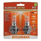 SYLVANIA - H13 SilverStar Ultra - High Performance Halogen Headlight Bulb, High Beam, Low Beam and...