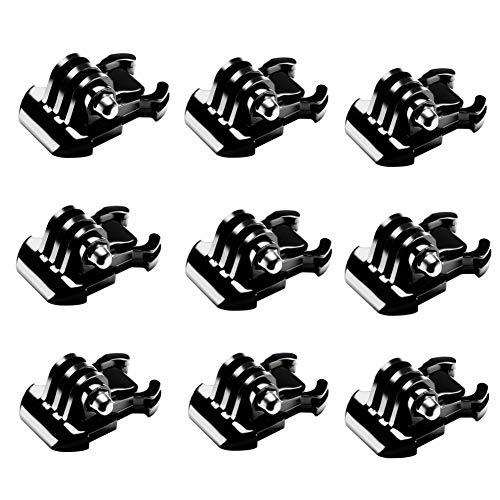 9 PCS Buckle Clip Basic Mount for GoPro Hero 8 Max 7 (2018) 6 5 4 3+ 3 2 Black Silver Session Fusion, DJI Osmo Action, Xiaomi YI 4K, DBPOWER, AKASO, Campark, SJCAM Sports Action Camera