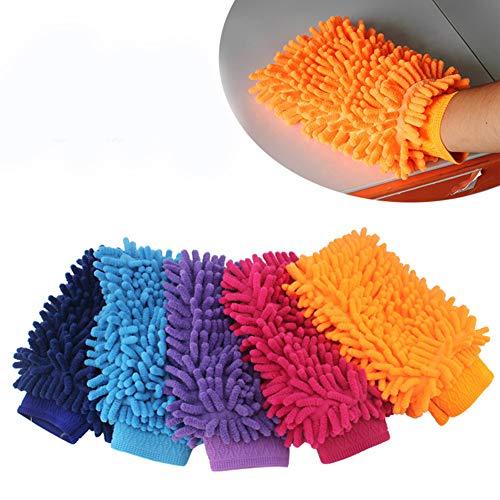 N/A Guante de Microfibra - Paños para Quitar el Polvo Cocina de Microfibra Amarilla Lavado de Ventanas del hogar Guantes de Tela para Toallas de Limpieza del hogar (Color Aleatorio)