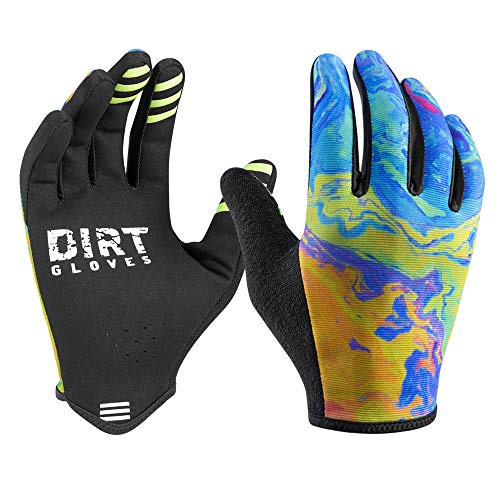 Dirt Gloves Mountain Bike Gloves MTB Bicycle Enduro Downhill XC Cycling Sports Full Finger (Oil...