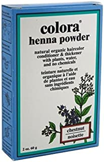 Colora Henna Powder Hair Color Chestnut 2oz (3 Pack)