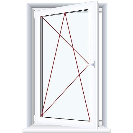 Kellerfenster Kunststoff Fenster Dreh Kipp 100 x 50 cm 1000 x 500 mm Winkhaus Beschlag Isolierglas DIN Rechts
