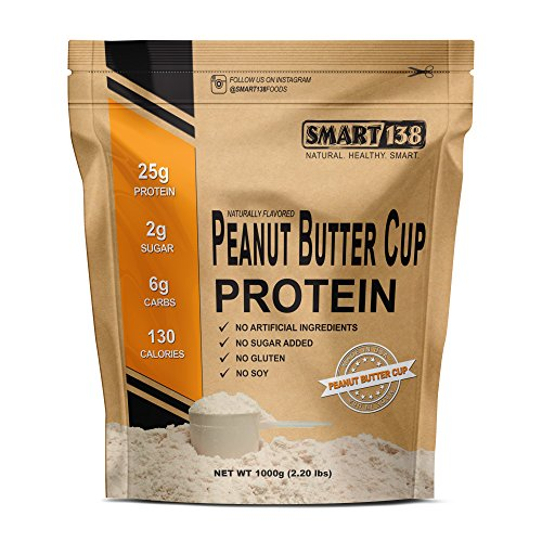 Peanut Butter Chocolate Natural Protein Powder, Gluten-Free, Soy-Free, USA, Keto (Low Carb), Natural BCAAs
