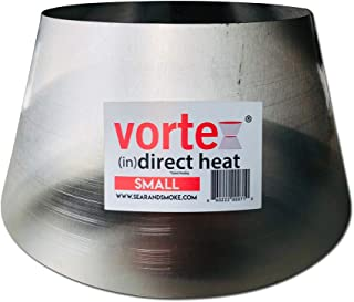 Vortex Small (in) Direct Cooking Charcoal Grill BBQ Accessory Cone 18.5 22.5 Weber Smokey Mountain WSM Small - Stainless - Original - USA Made -Genuine SM Size