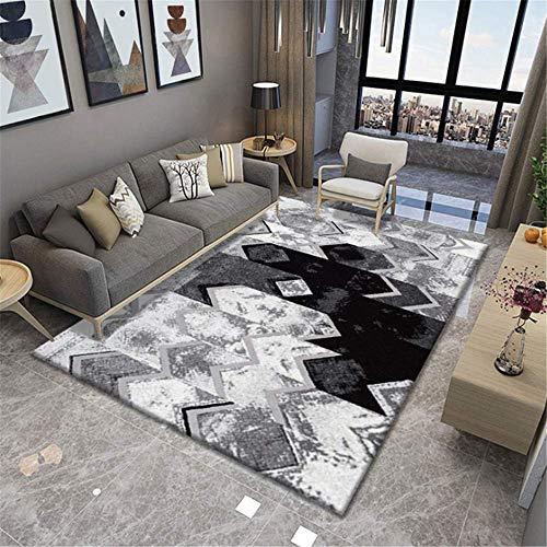 MLKUP Einfache nordische Teppich Wohnzimmer nach Hause weiches Schlafzimmer Sofa Couchtisch Studie Bodenmatte/Größe:140x200cm