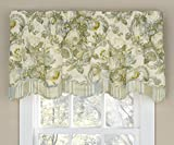 Waverly Valances for Windows - Spring Bling 52' x 18' Short Curtain Valance Small Window Curtains Bathroom, Living Room and Kitchens, Platinum