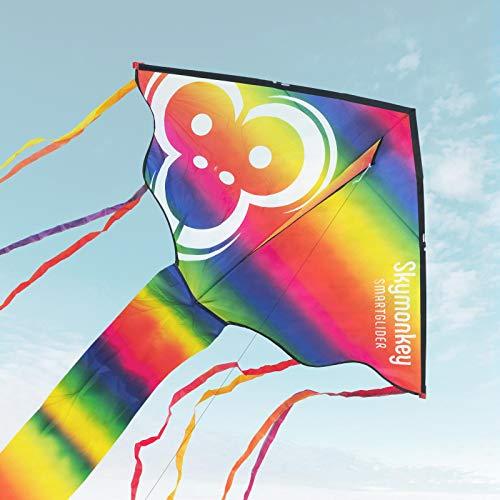 Skymonkey Smartglider Einleiner Drachen für Kinder, Leichtwinddrache - 130cm