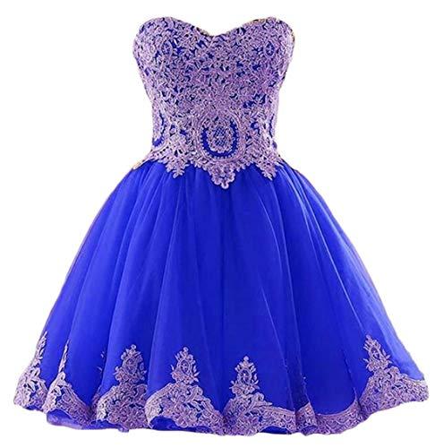 Chu Gu Chugu – Vestido corto para mujer, Azul rey., 2