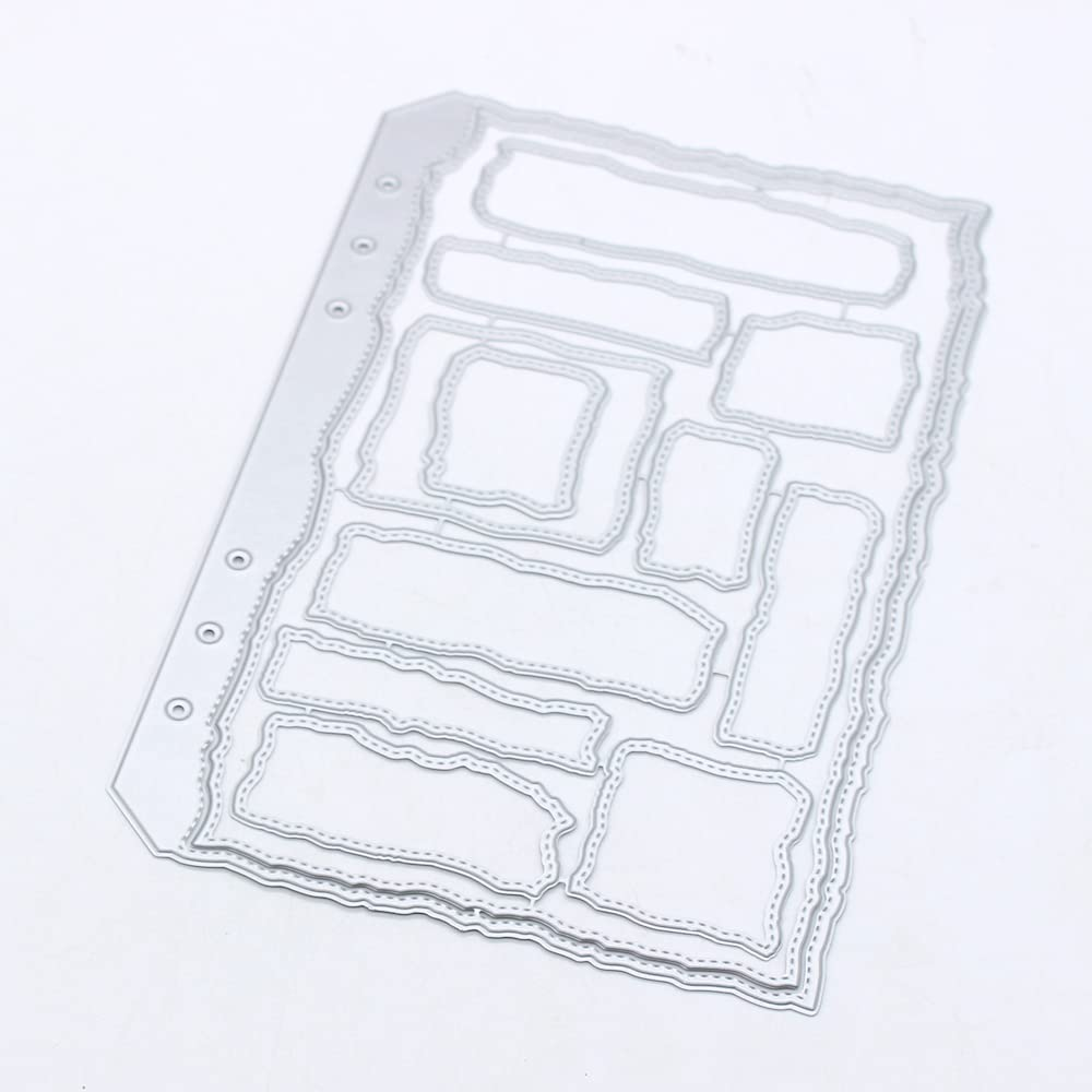 KSCRAFT Ranking TOP12 A5 Torn Edges Planner Page f Cutting Stencils Dies Metal New product!!