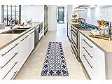 Oedim Alfombra Mosaico Morado para Habitaciones PVC | 60 x 80 cm | Moqueta PVC | Suelo vinílico | Decoración del Hogar | Suelo de Protección |