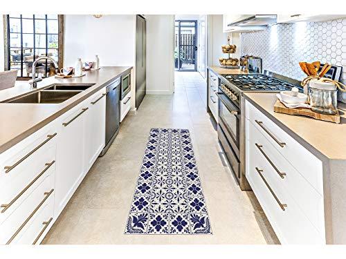 Oedim Alfombra Mosaico Morado para Habitaciones PVC   60 x 120 cm  Moqueta PVC   Suelo vinílico   Decoración del Hogar   Suelo de Protección  