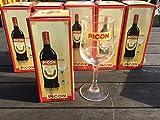 Picon Lot DE 6 Verres VIN Blanc Mousseux Biere avec Trait DOSEUR Neuf