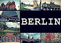 BERLIN horizontal (Wandkalender 2021 DIN A4 quer): Streets of Berlin (Monatskalender, 14 Seiten )