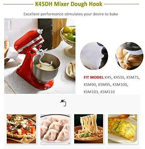 Poweka K45DH Gancho de Amasar para KitchenAid Robot de Cocina 5KSM90/150: Amazon.es