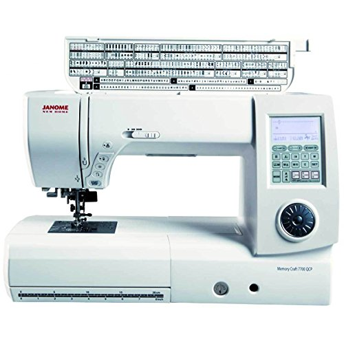 Janome MC 7700 QCP Sewing and Quilting Machine with Bundle