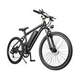 Bicicletas Electricas de Montana Hombre Adultos E-Bike MTB Ciudad 7 Velocidad 350W 25KM/H 26 Pulgadas