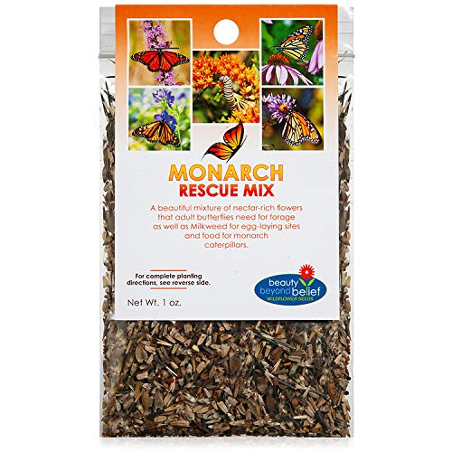Monarch Butterfly Rescue Wildflower Seeds Bulk Open-Pollinated...
