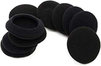 5 Pairs Earpads Replacement Foam Ear Pads Pillow Cushion Cover Cups Parts Compatible Philips SHB 4000 SHB4000 Headphones (Black)