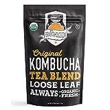 Fermentaholics USDA Certified Organic Kombucha Tea Blend 4 oz   Makes 11 Gallons   Kosher Certified   100% Organic Black and Green Tea Blend   Loose Leaf