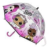 Cerdá Paraguas Manual Burbuja LOL, Rosa (Rosa 01), One Size (Tamaño del fabricante:45 cm) para Niñas