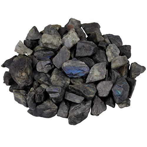 Rockcloud 1 lb Natural Crystals Raw Rough Stones for Cabbing,Tumbling,Cutting,Lapidary,Polishing,Reiki Crytsal Healing,Labradorite