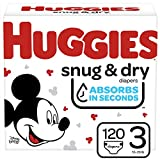 Huggies Snug & Dry Baby Diapers, Size 3, 120 Ct