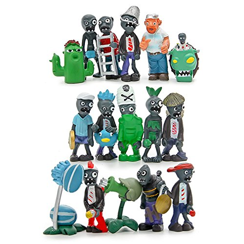 Plants vs Zombies Series PVC Toys,16 Piece