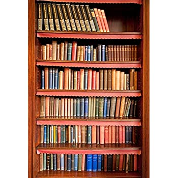YEELE 10x10ft Library Bookshelf Backdrop for Photography Old Books on Shelves Background Medieval Library Bookstore Wisdom and Knowledge Education Science Study Interior Portrait Photoshoot Props