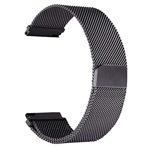BBLLCorrea de Reloj 22mm Correa de Relojpara Samsung Gear S3 Galaxy Watch 46mm 42mm Active 2 Band 20mm Banda de Acero Inoxidable para Gear S2 Amazfit 20mm o S2 Classic Black