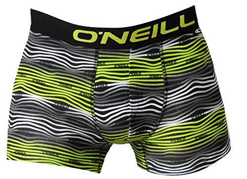 O'Neill Herren   Boxer-Short   Basic-Line   2er Set   für jeden Tag (Yellow/Black, XXL)