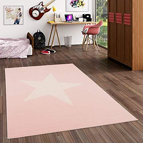 Pergamon Trendline - Alfombra Infantil - Estrella Rosa Pastel - 5 tamaños