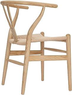 Tellgoy Wishbone Chair Y Silla De Madera Sólida Que Cena Las Sillas De Ratán Sillón Natural Comedor Sillas De Cocina,A