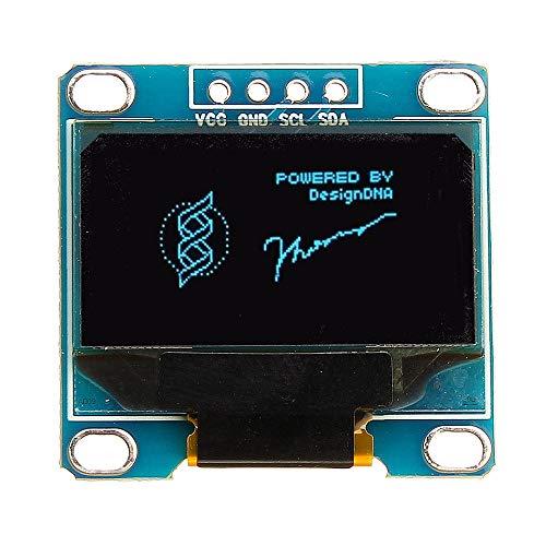 RLJJCS1163 0,96 Zoll 4Pin IIC I2C SSD136 128x64 DC 3V-5V Blue OLED-Anzeigemodul for Arduino - Produkte, die mit verschriebenen Arduino-Boards Arbeiten