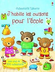 Livre maternelle rentrée J'habille les oursons pour l'école