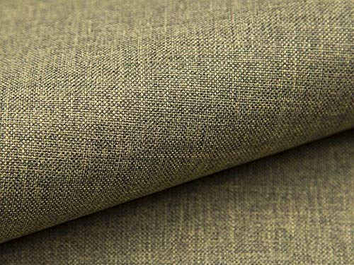 Lux 18 Woven Upholstery Fabric 5 Metres Green / Anthracite