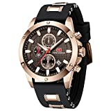 MINI FOCUS Wrist Watch Men Luxury Quartz Watch Quartz Watch Military Silicone Strap Black Leather Watches for Men
