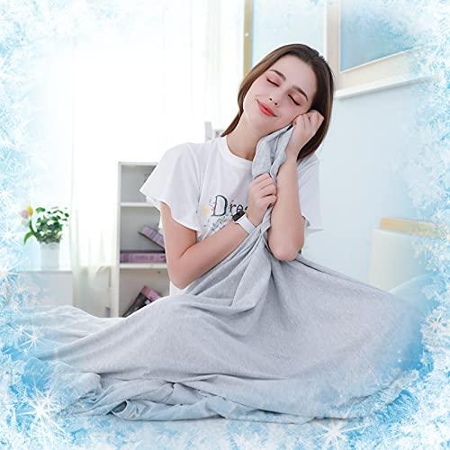 SOLEDI Manta de Enfriamiento, Material Fresco Usado en Verano Lado A, Q-MAX 0.4, Material de Punto...