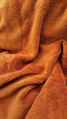 Super Soft Luxurious Plush Fleece Throw Blanket Light Solid Rust Colors 50