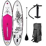 """SUP Board Stand up Paddling Surfboard"""" Kolibri"""" 300x76x15cm aufblasbar Alu-Paddel"""