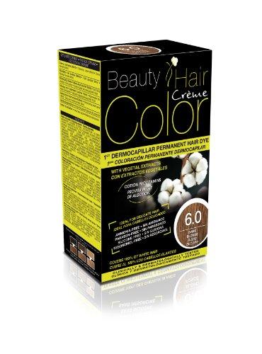 Beauty Hair Color - BHC60 - Coloration Permanente aux Extraits Végétaux - 6.0 Blond Fonce