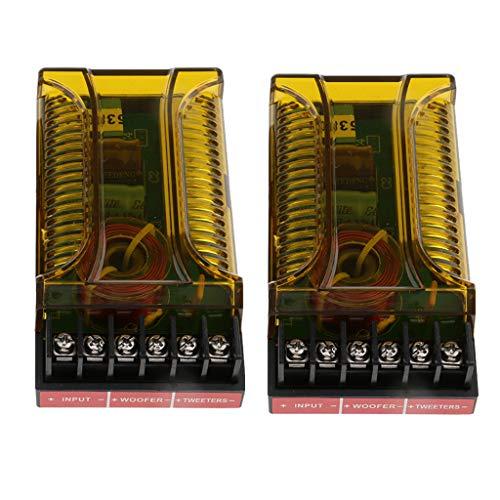 F Fityle 2 Pcs 120w 2 Voies Audio Diviseur de Fréquence Crossover Module Filtre Réglable