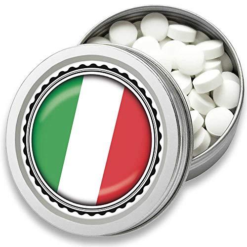 FAN Mint | 3er Set Pfefferminz Bonbons mit Italien Flagge | Geschenk, Souvenir Italien Fahne | Bonbon-Dose, Fan-Artikel, Party Deko (Italien)