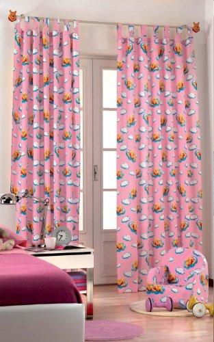Originele Disney Winnie Puuh Pooh & Tiger 1 st. XXL kant-en-klaar lusgordijn/gordijn L 290cm x B 140cm roze NIEUW katoen 2013
