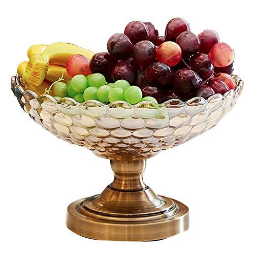 Plato De Frutas Para Mostrador De Cocina, Canasta De Frutas De Cocina Organizador De Refrigerios Frutero De Vidrio Para Sala De Estar Lavabo De Almacenamiento De Cocina