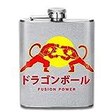 Fusion Power Dragon Ball Z - Petaca de bolsillo (acero inoxidable, 7oz)