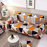 MKQB Funda de sofá elástica elástica para Sala de Estar, Moderna Funda de sofá Modular de Esquina en Forma de L Antideslizante Envuelto herméticamente NO.12 4seat-XL- (235-300cm)